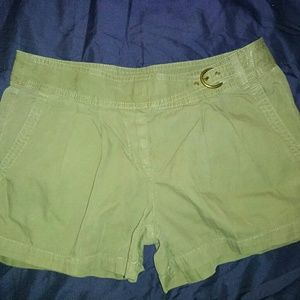 New J Crew 8 Chino Shorts Army Green Buckle